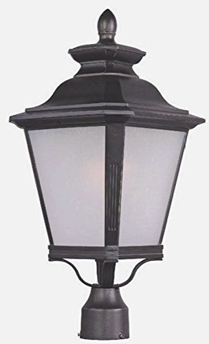 Maxim Lighting 1120FSBZ Knoxville-Outdoor Pole/Post Mount 1-Light Lantern