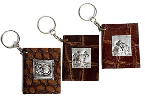 Schlüsselanhänger Notizbücher Leder (5cm x 5cm)