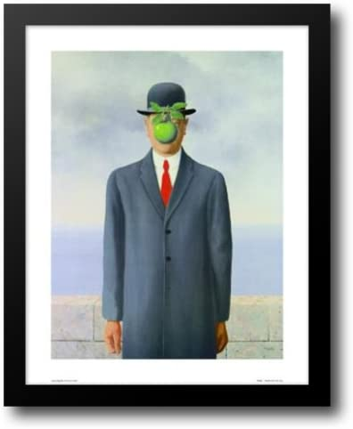 Amazon Com The Son Of Man C 1964 15x18 Framed Art Print By Magritte Rene Artwork Posters Prints