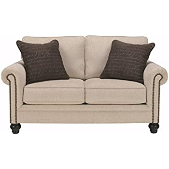 Magnificent Amazon Com Harleson Wheat Traditional Loveseat Vintage With Machost Co Dining Chair Design Ideas Machostcouk
