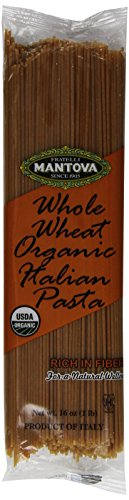 Mantova Italian Organic Spaghetti Whole Wheat Pasta, 1-Pound Bags (Pack of 10).