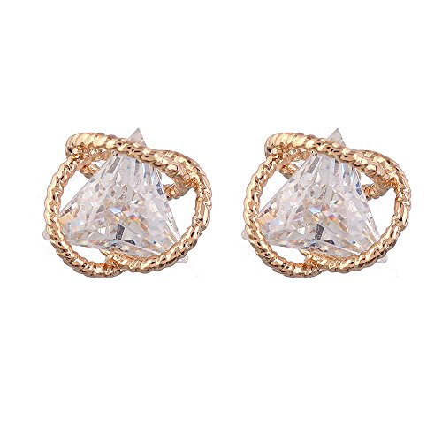 Geometric Triangle Cubic Zirconia Earring - Geometric Triangle