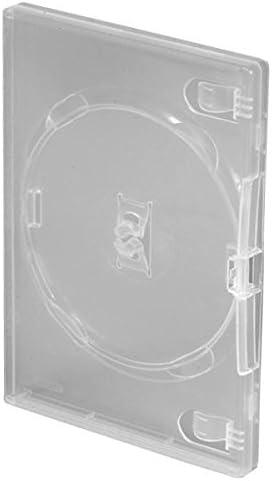 100 cajas de almacenamiento para CD, DVD, Blu-ray con capacidad para una unidad, 14 mm, color transparente