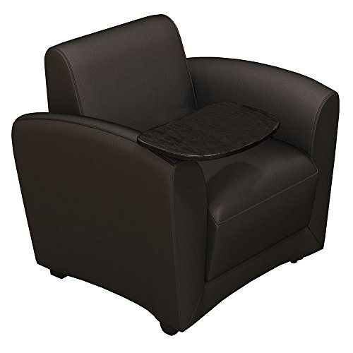 Santa Cruz Genuine Leather Mobile Lounge Chair with Tablet Arm Dimensions: 31