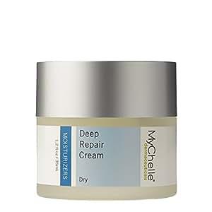 MyChelle Deep Repair Cream, Rich Moisturizer with Rose Hip Oil and Kombuchka for Dry Skin, 1.2 fl oz