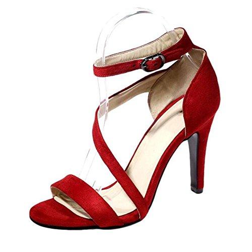 a Da cinghie Tacco donna sandali scamosciato GAOGENX Roma da Vestito EU35 a Scarpe spillo 41 35 OPqxpS