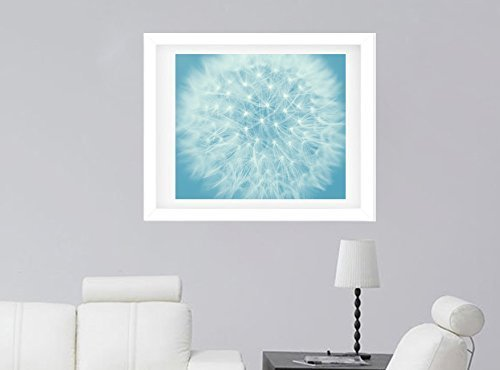 Dandelion Photography, Modern Flower Wall Decor Picture, Macro Photography, Fine Art Print from 5x7 to 16x20, Blue Wall Art, Baby Boy Room, Nursery Art, Bedroom Artwork by Natural Photography Spa (Image #1)