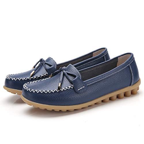 Trabajo de Colores FLYRCX de Suaves Baja F cómodos Zapatos Maternidad la Oficina Elegir señoras Cuero Planos de Boca una de de Zapatos Moda de para Zapatos Variedad de la Antideslizantes Zapatos xpr1xwqR