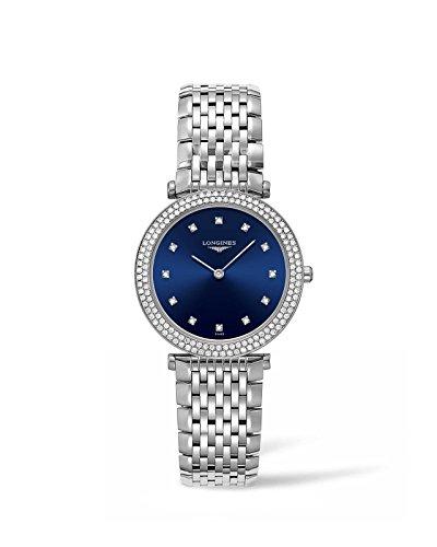 Longines La Grande Classiqe - L4.515.0.97.6 - Blue Diamond Dial Diamond Bezel Quartz Women's