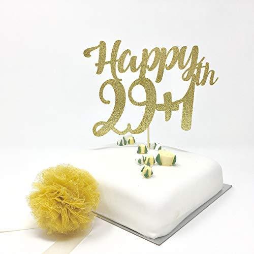 Decoración divertida para tarta de 30 cumpleaños. 29 más 1 ...