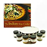 The Indian Slow Cooker Kit, Includes Basic Set of 6 Spices and A Spice Tiffin Masala Dabba