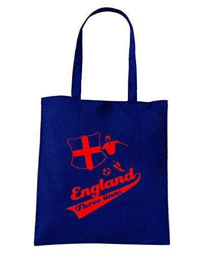 T-Shirtshock - Bolsa para la compra WC0076 ENGLAND INGHILTERRA Azul Marino