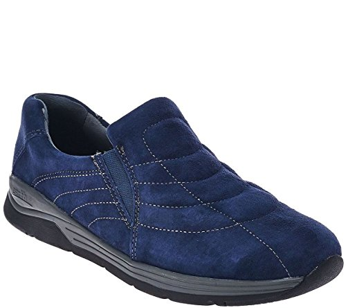 Earth Suede Water Resistant Slip-on Shoes Journey A270451 Navy