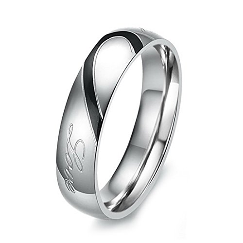 INBLUE Womens Stainless Wedding Promise