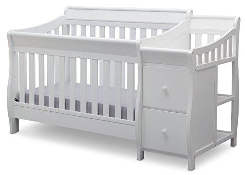 Delta Children Bentley S Convertible Crib N Changer, White