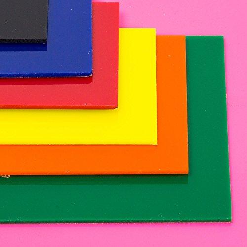 "Source One LLC 1/8 th Inch Thick Acrylic Plexiglass Sheet (12"" x 12"", Red)"