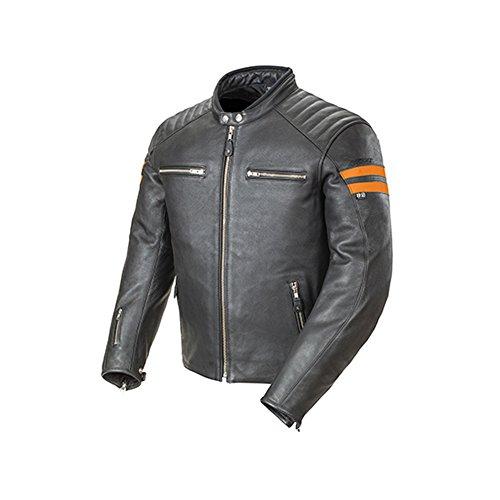 Joe Rocket Classic '92 Men's Leather On-Road Motorcycle Jacket - Black/Orange/Medium