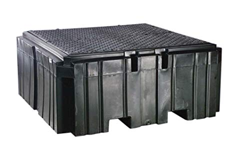 IBC Spill Containment Pallet - 63 x 63 x 27 in, Polyethylene, 360 gal Sump Capacity, 8000 lbs Load Capacity