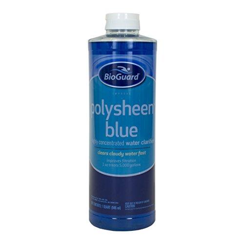 BioGuard Polysheen Blue Clarifier - Quart by - Clarifier Pool