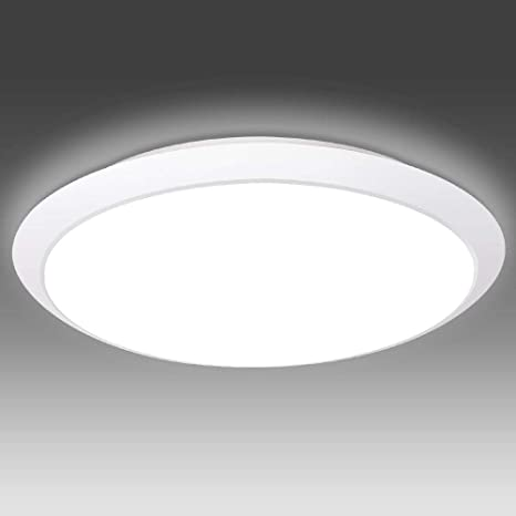 Amazon Com Flush Mount Ceiling Light Fixture Waterproof 18w Led Ceiling Lights 6000k 1800lm Cool White 12 Inch Round Modern Ceiling Lamp Light For Bathroom Kitchen Hallway Home Improvement