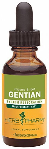 Herb Pharm Certified Organic Gentian Extract for Digestive Support - 1 Ounce