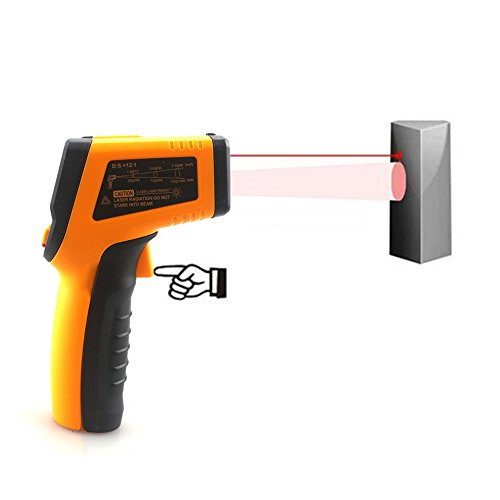 KETOTEK IR Infrared Thermometer,Non-contact Digital Laser Infrared Thermometer Temperature Gun -58℉- 1112℉(-50℃ - 600℃)with LCD Display for Kitchen Food Meat BBQ Automotive and Industrial by KETOTEK (Image #3)