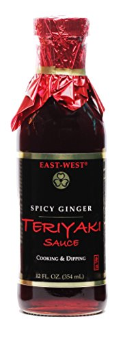 East-West Specialty Sauces, Spicy Ginger Teriyaki, 12 Ounce (Pack of 4)