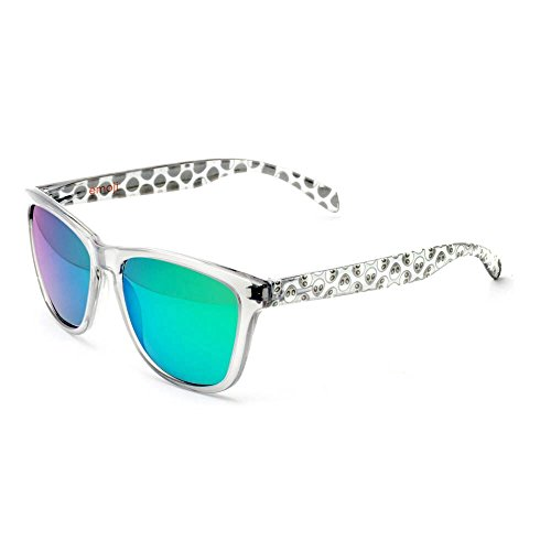 Bright White Green Alien Sunglasses By Official Emoji - White Glasses Alien