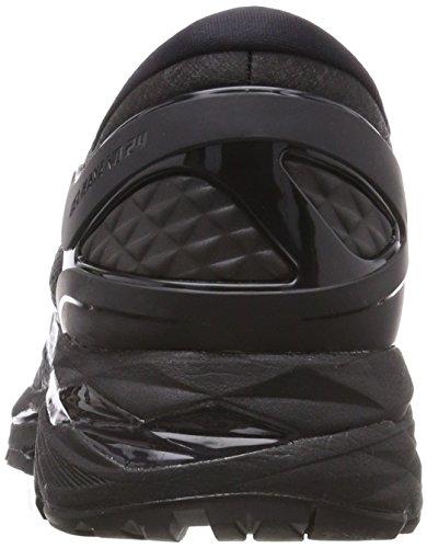 Asics Gel-Kayano 24, Chaussures de Gymnastique Femme Noir (Black/Black/Carbon 9090)