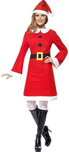 Mere eco disfraz navideño con vestido de forro polar, talla m ...
