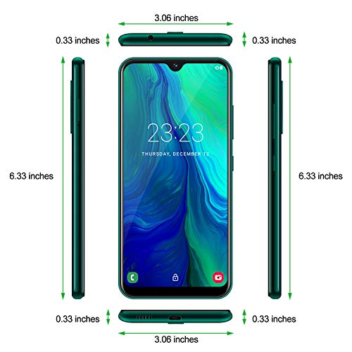XGODY 6.3inch Note 8 LTE 4G 16GB+2GB Android 9.0 Unlocked Cell Phone Smartphone 4Core