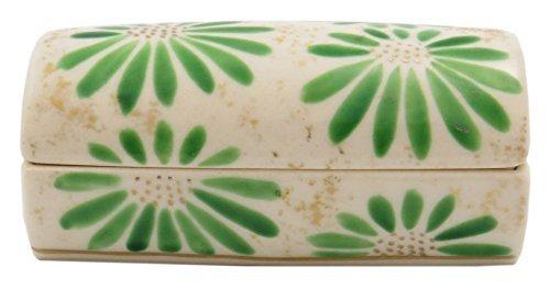 Hiwa Green Kiyomizu Yaki Porcelain 3.5inch Toothpick holder