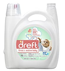 Dreft Stage 2: Active Baby Liquid Detergent is specially designed with your developing baby in mind. That's why it helps remove 99% of baby food stains and all the messes baby finds while crawling in grass and dirt. Let Dreft Active Baby care...