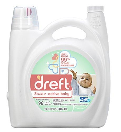 Dreft Stage 2: Active Baby Liquid Laundry Detergent (HE), 150 oz, 96 Loads (Best Budget Laundry Detergent)