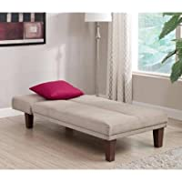 DHP Dillan Tan Chaise sectional microfiber sofa lounge
