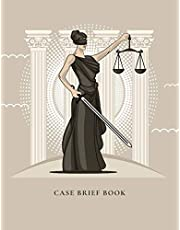 Case Brief Book: Case Brief Template - Law Student Notebook - 50 Cases - Printed on High Quality Cream Paper