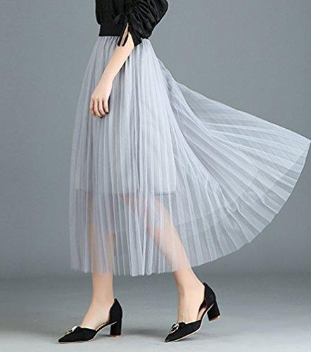 Mariage Jupe Maxi Femme Tulle Jupe Longue Soire Gris Taille CHENYANG Haute pour 0qSO6qw