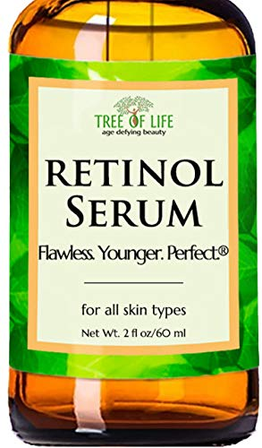 Retinol Serum for Face and Skin, DOUBLE SIZE (2oz) Anti Aging Serum, Clinical Strength