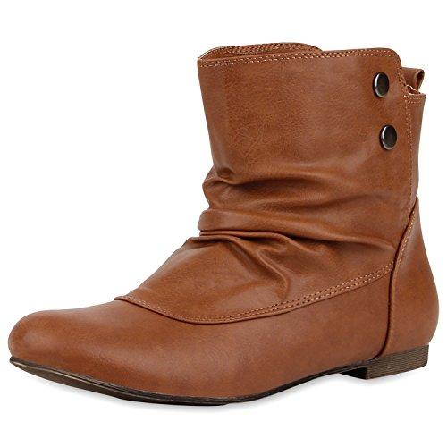 Botas Japado marrón plisadas Marrón Mujer 4wn6xSUdq