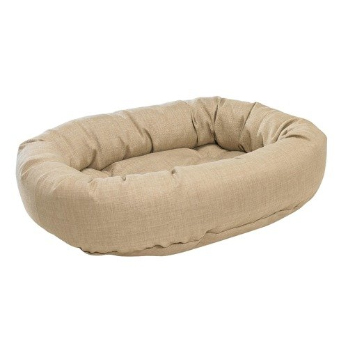 Bowsers Donut Bed in Flax Fabric (2X Large: 55 x 35 x 11 ...