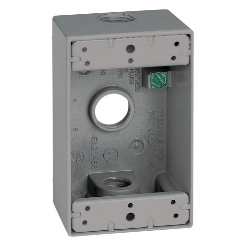 Sigma Electric 14250 1/2-Inch 3 Hole 1-Gang Box, (1g Gang Weatherproof Box)