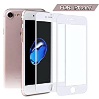SS iPhone 7 Screen Protector Glass, 0.25 mm Thickness, 9H Hardness, 3D Round Edge,HD Clear Tempered for Apple iPhone 7/6/6s 2-Pack (4.7 inch)