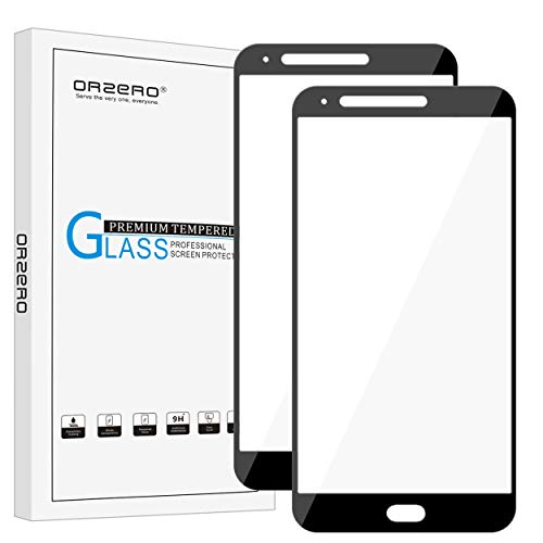 [2 Pack] Orzero For LG Stylo 3 Plus (Not fit for LG Stylo 3) [ Full Coverage ] Tempered Glass Screen Protector, Orzero 2.5D Arc Edges 9 Hardness HD [ Lifetime Replacement Warranty ]-Black