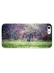3d Full Wrap Case for iPhone 5/5s Animal Deer Eating Grass78
