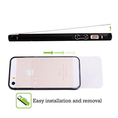 Officiel Micklyn Le Feuvre Médaillon de Soleil Mandala Noir Étui Coque Aluminium Bumper Slider pour Apple iPhone 5 / 5s / SE