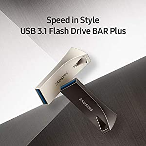 Samsung BAR Plus 128GB - 400MB/s USB 3.1 Flash Drive Titan Gray (MUF-128BE4/AM)