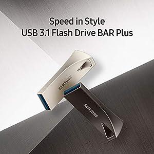 Samsung BAR Plus 32GB - 200MB/s USB 3.1 Flash Drive Titan Gray (MUF-32BE4/AM) (Color: Gray, Tamaño: 32 GB)