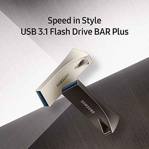 Samsung BAR Plus 256GB - 400MB/s USB 3.1 Flash Drive Titan Gray (MUF-256BE4/AM)