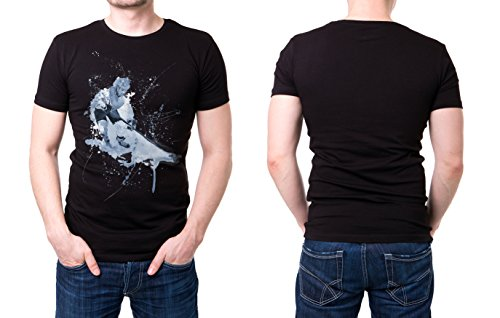 Eishockey schwarzes modernes Herren T-Shirt mit stylischen Aufdruck