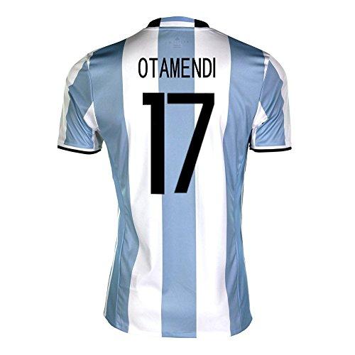 抜け目のない裁判所征服者adidas Otamendi #17 Argentina Home Soccer Jersey Copa America Centenario 2016 YOUTH/サッカーユニフォーム アルゼンチン ホーム用 オタメンディ ジュニア向け
